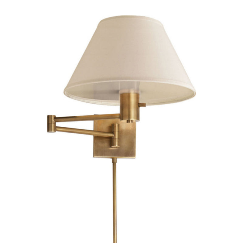 Visual Comfort 92000D HAB-L Studio VC Classic Swing Arm Wall Lamp in Hand-Rubbed Antique Brass