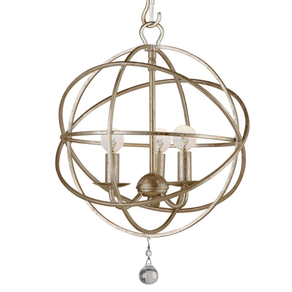 Crystorama 9225-OS Solaris Mini Chandelier in Olde Silver