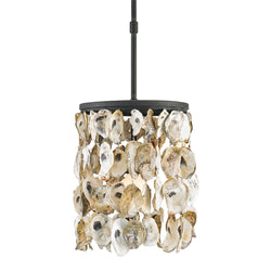 Currey and Company 9250 Stillwater Pendant in Blacksmith/Natural