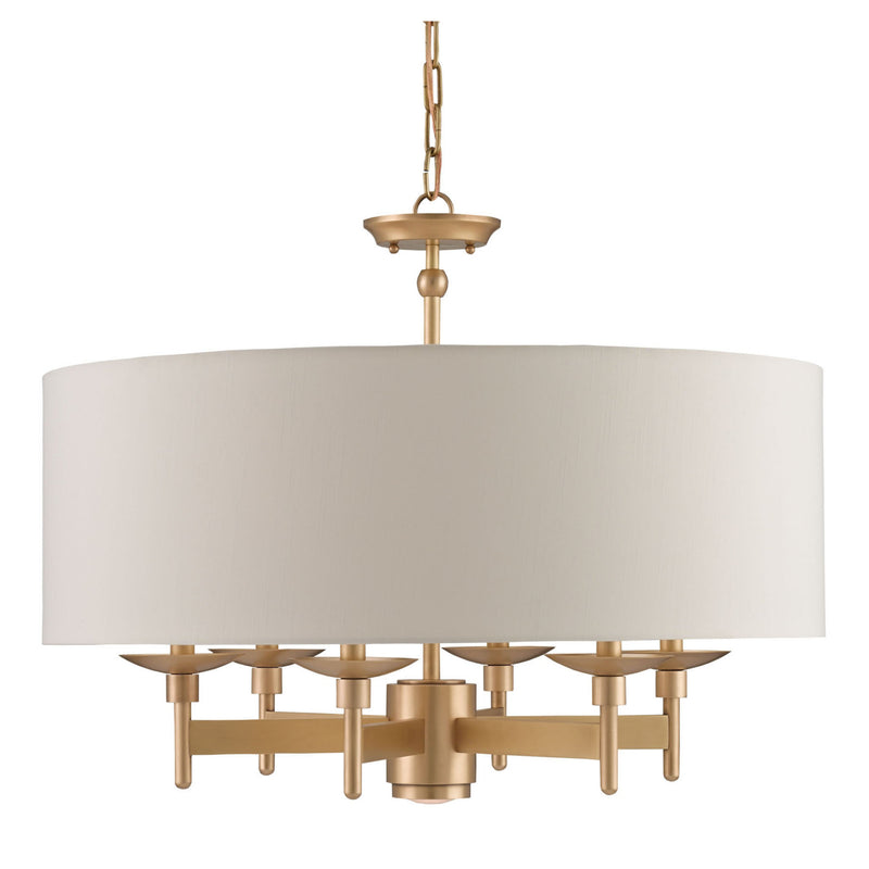 Currey and Company 9299 Bering Brass Chandelier in Antique Brass