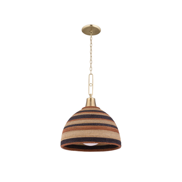 Hudson Valley Lighting 9320-AGB Lido Beach 1 Light Pendant in Aged Brass