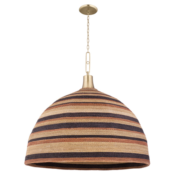 Hudson Valley Lighting 9340-AGB Lido Beach 1 Light Pendant in Aged Brass