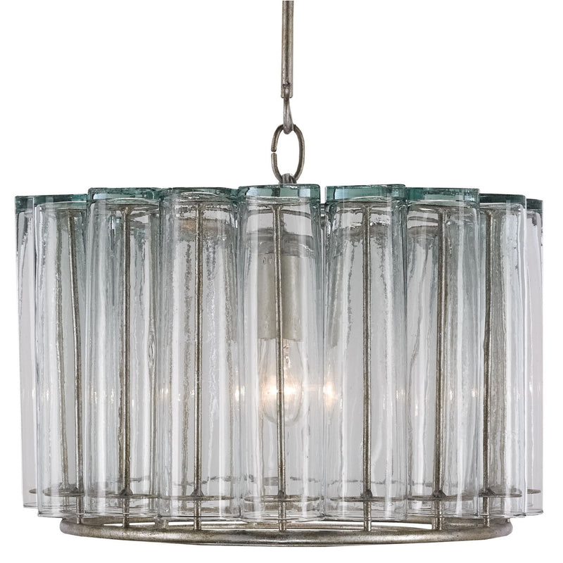 Currey and Company 9375 Bevilacqua Pendant in Silver Leaf