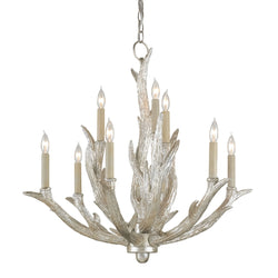 Currey and Company 9410 Haywood Chandelier in Silver Granello