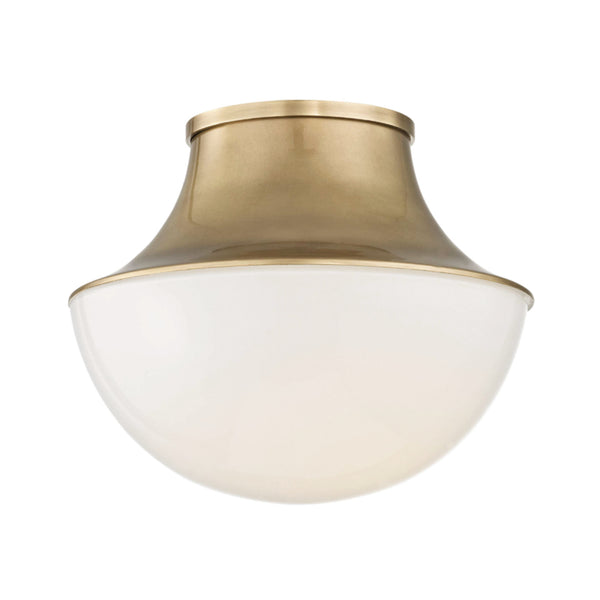 Hudson Valley Lighting 9411-AGB Lettie Small Led Flush Mount in Aged Brass