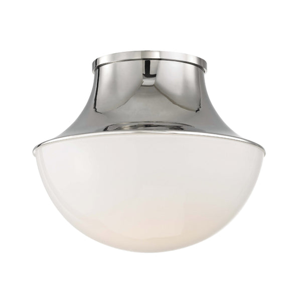 Hudson Valley Lighting 9411-PN Lettie Small Led Flush Mount in Polished Nickel