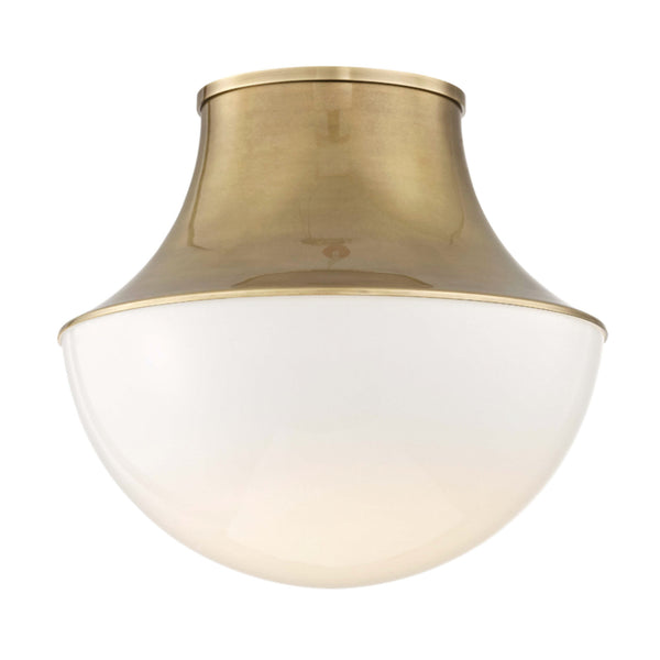 Hudson Valley Lighting 9415-AGB Lettie Large Led Flush Mount in Aged Brass