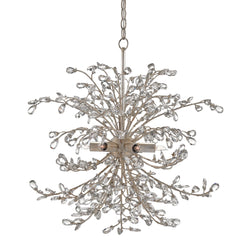 Currey and Company 9439 Tiara Chandelier in Silver Granello
