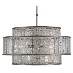 Currey and Company 9454 Fantine Large Chandelier in Pyrite Bronze/Raj Mirror