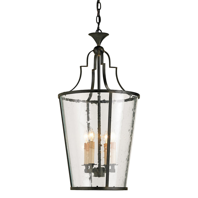 Currey and Company 9468 Fergus Lantern in Old Iron