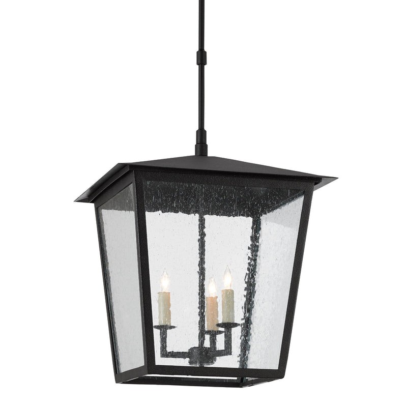 Currey and Company 9500-0002 Bening Large Outdoor Lantern in Midnight