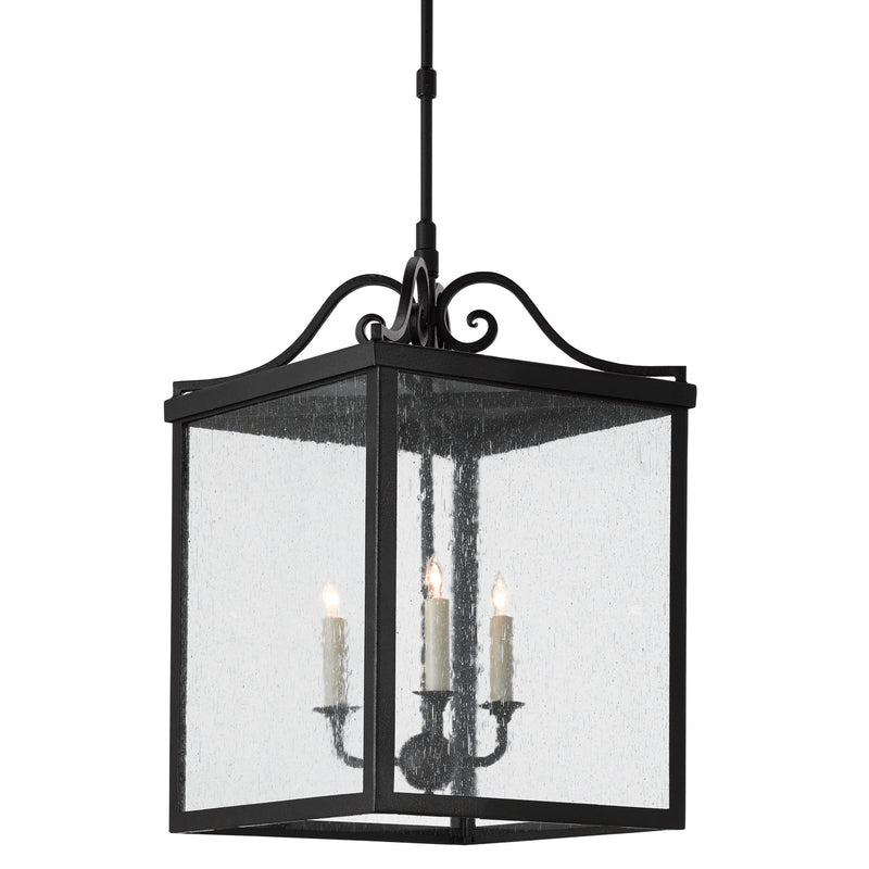 Currey and Company 9500-0006 Giatti Large Outdoor Lantern in Midnight