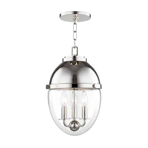 Hudson Valley Lighting 9511-PN Kennedy 3 Light Pendant in Polished Nickel