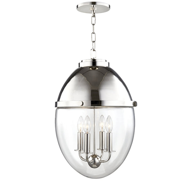 Hudson Valley Lighting 9514-PN Kennedy 4 Light Pendant in Polished Nickel