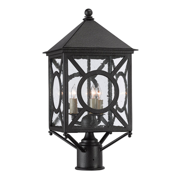 Currey and Company 9600-0001 Ripley Small Post Light in Midnight