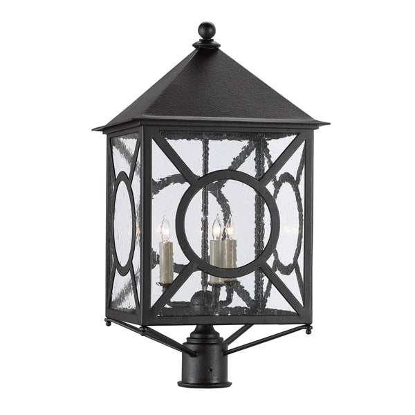 Currey and Company 9600-0002 Ripley Large Post Light in Midnight