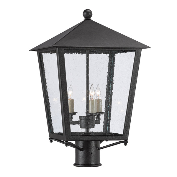 Currey and Company 9600-0005 Bening Small Post Light in Midnight