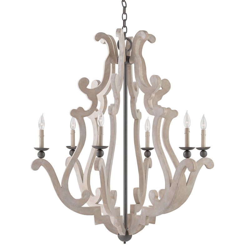 Currey and Company 9636 Durand Chandelier in Portland/Old Iron