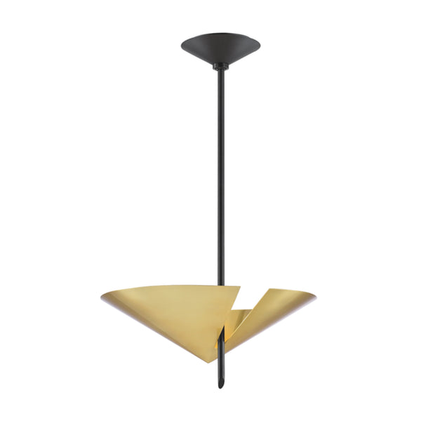 Hudson Valley Lighting 9711-AGB/BK Equilibrium 2 Light Pendant in Aged Brass/Black