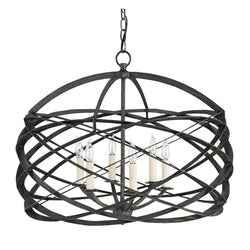 Currey and Company 9729 Horatio Chandelier in Black Iron