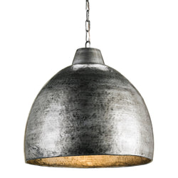 Currey and Company 9782 Earthshine Steel Large Pendant in Blackened Steel