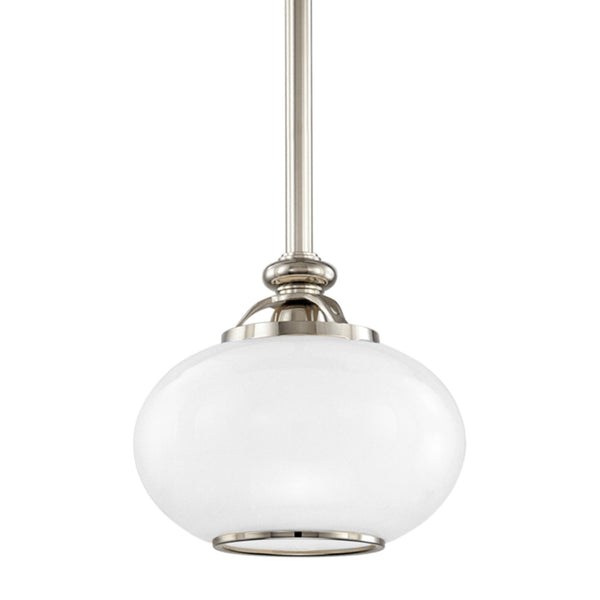 Hudson Valley Lighting 9809-PN Canton 1 Light Pendant in Polished Nickel