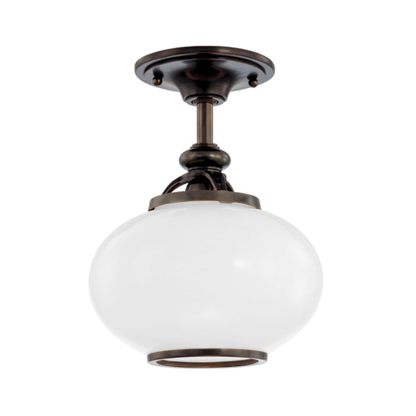 Hudson Valley Lighting 9809F-OB Canton 1 Light Semi Flush in Old Bronze