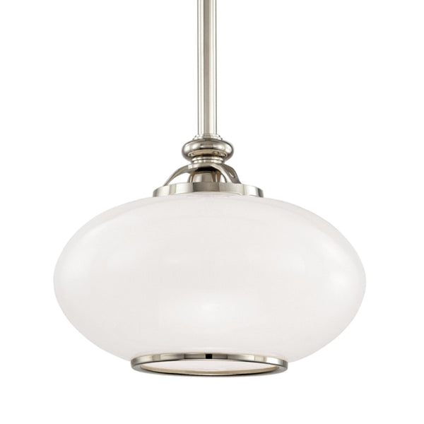 Hudson Valley Lighting 9812-PN Canton 1 Light Pendant in Polished Nickel