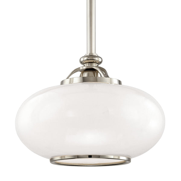 Hudson Valley Lighting 9815-PN Canton 1 Light Pendant in Polished Nickel