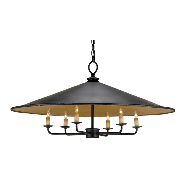 Currey and Company 9873 Brussels Chandelier in French Black/Contemporary Gold
