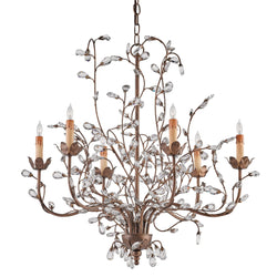 Currey and Company 9882 Crystal Bud Cupertino Medium Chandelier in Cupertino