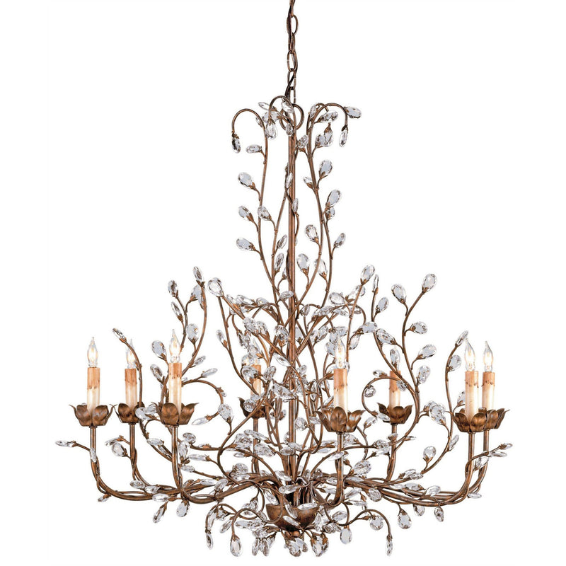 Currey and Company 9884 Crystal Bud Cupertino Large Chandelier in Cupertino