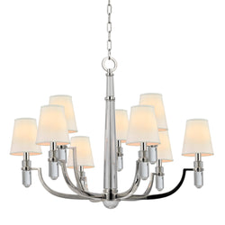 Hudson Valley Lighting 989-PN Dayton 9 Light Chandelier in Polished Nickel