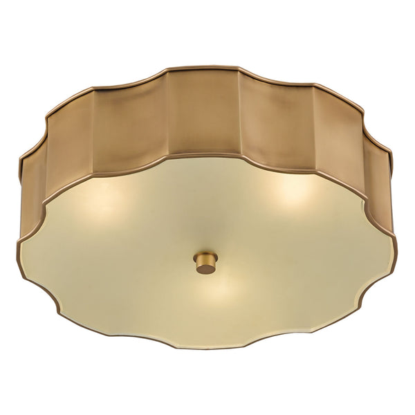 Currey and Company 9999-0001 Wexford Brass Flush Mount in Antique Brass