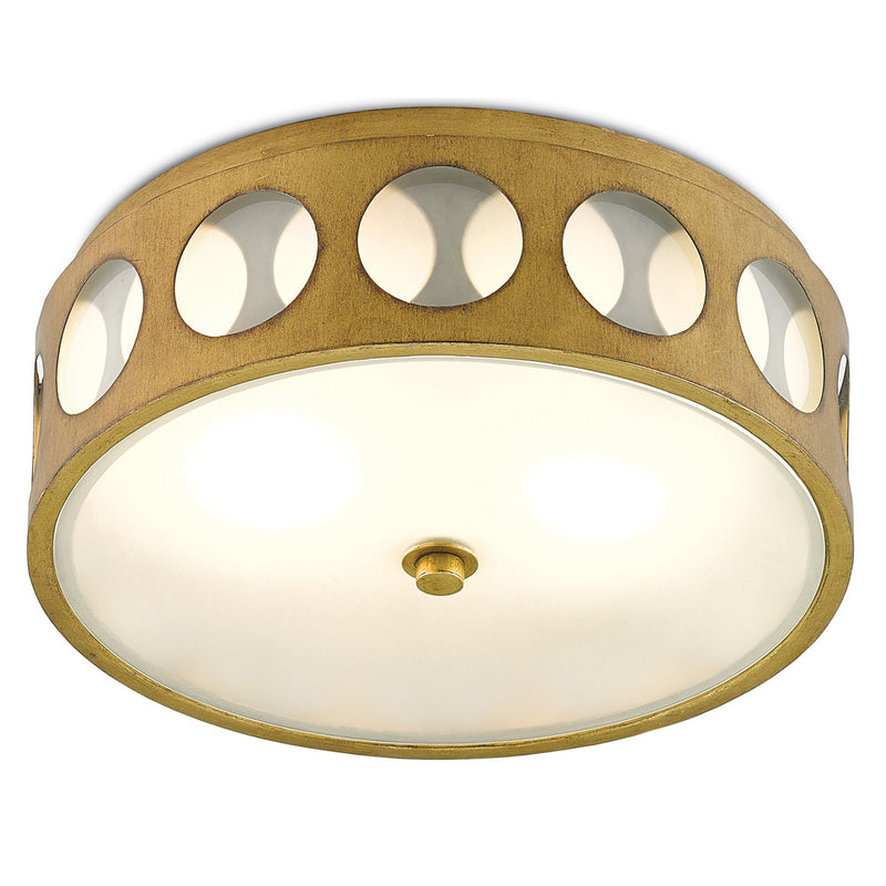 Currey and Company 9999-0019 Go-Go Flush Mount in Brass