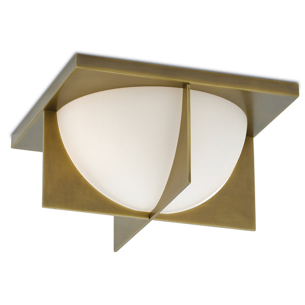 Currey and Company 9999-0039 Lucas Flush Mount in Antique Brass