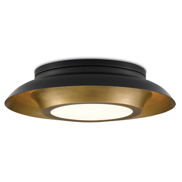 Currey and Company 9999-0045 Metaphor Flush Mount in Painted Antique Brass/Painted Black