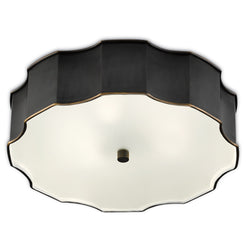 Currey and Company 9999-0046 Wexford Bronze Flush Mount in Oil Rubbed Bronze