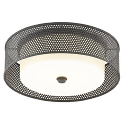 Currey and Company 9999-0048 Notte Flush Mount in Mole Black