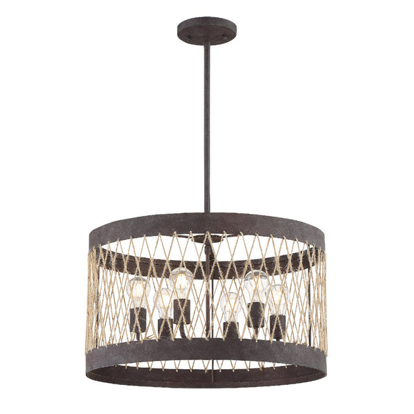 Crystorama ADR-A5026-FB Anders Chandelier in Forged Bronze