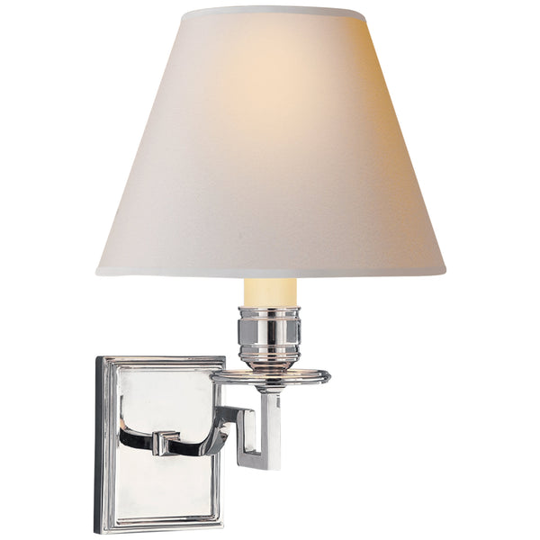 Visual Comfort AH 2000PN-NP Alexa Hampton Traditional Dean Single Arm Sconce in Polished Nickel