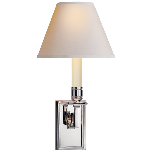 Visual Comfort AH 2001PN-NP Alexa Hampton Dean Library Sconce in Polished Nickel