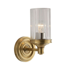 Visual Comfort AH 2200HAB-CG Alexa Hampton Ava Single Sconce in Hand-Rubbed Antique Brass