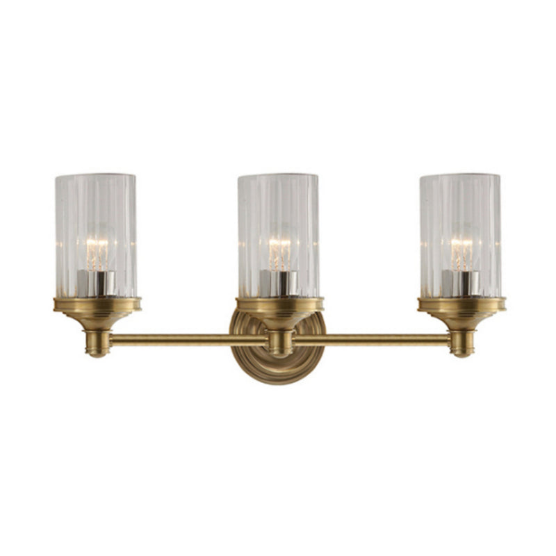 Visual Comfort AH 2202HAB-CG Alexa Hampton Ava Triple Sconce in Hand-Rubbed Antique Brass