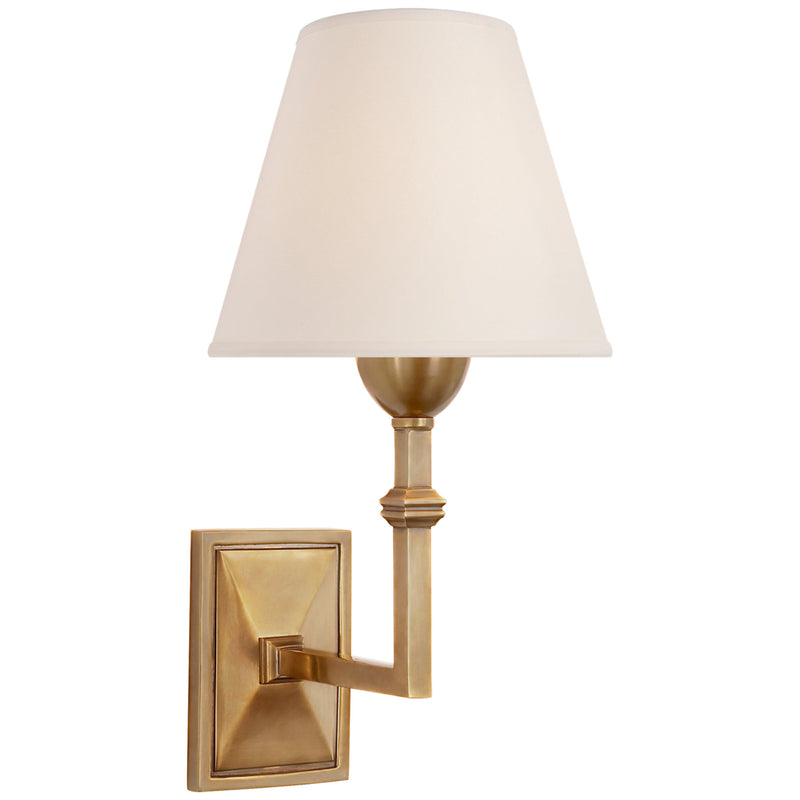 Visual Comfort AH 2305HAB-NP Alexa Hampton Jane Wall Sconce in Hand-Rubbed Antique Brass