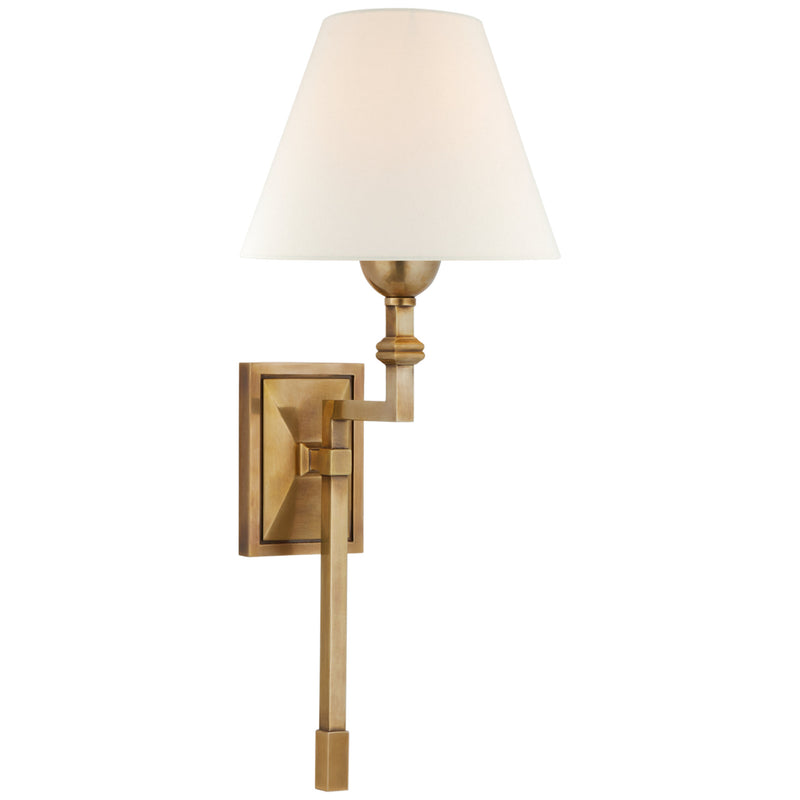 Visual Comfort AH 2310HAB-L Alexa Hampton Jane Medium Single Tail Sconce in Hand-Rubbed Antique Brass