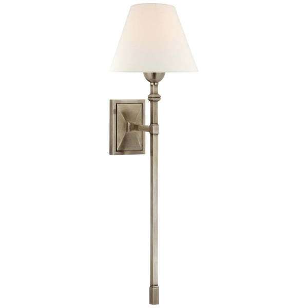 Visual Comfort AH 2315AN-L Alexa Hampton Jane Large Single Tail Sconce in Antique Nickel
