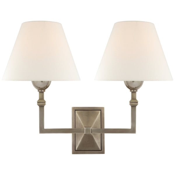 Visual Comfort AH 2320AN-L Alexa Hampton Casual Jane Double Sconce in Antique Nickel