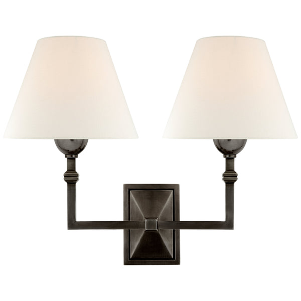 Visual Comfort AH 2320GM-L Alexa Hampton Casual Jane Double Sconce in Gun Metal