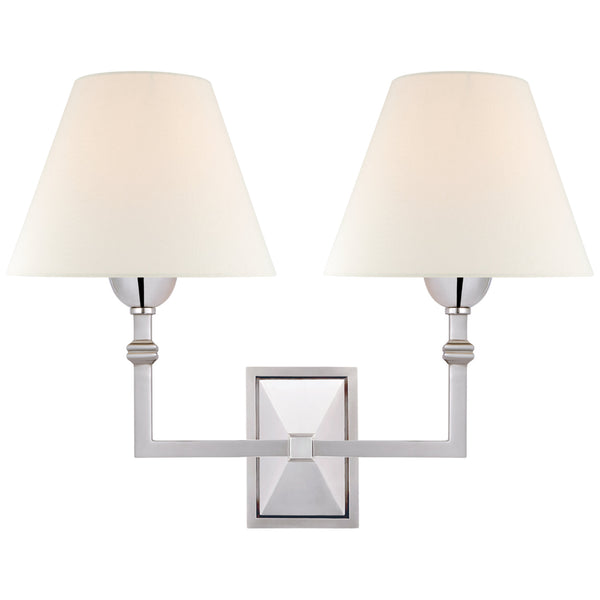 Visual Comfort AH 2320PN-L Alexa Hampton Casual Jane Double Sconce in Polished Nickel